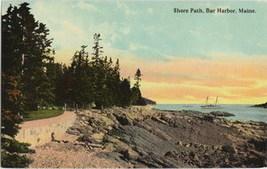 Vintage Unused Bar Harbor Maine RPPC Color Postcard c 1915 - $3.00