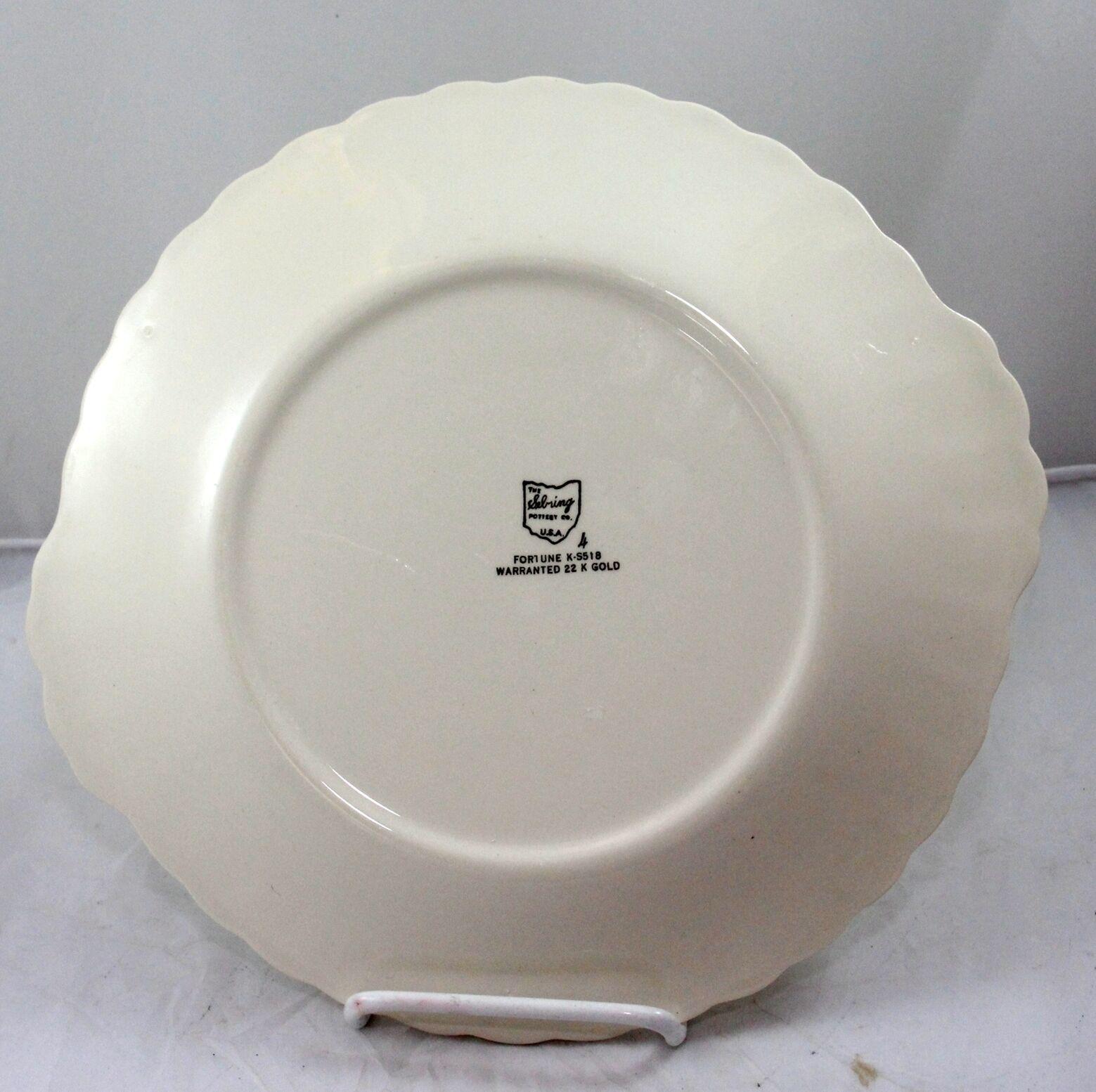 Sebring Ohio Pottery Platter 22K Gold Trim   image 6