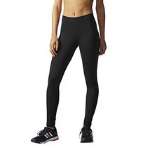 adidas Performance Women's Techfit Long Tights, Black/Silver Logo, Large