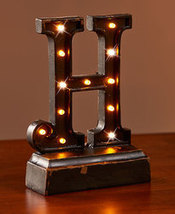 "Lighted Monogram ""H"" Plaques - $8.85"