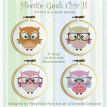 Hootie Geek Chic II Stitch & A Hoop series cross stitch chart Pinoy Stitch - $7.20