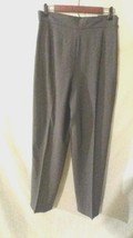 LIZ CLAIBORNE 12 DRESS PANTS 100% WOOL GRAY CAREER LINED TAILORED TROUSE... - $12.41