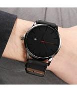 Minimalist Analog Fashion Watch Men Leather Strap Casual Quartz Wristwatch - $11.61+