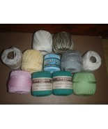 Vintage Lot of 11 Rauch Industries 3 Cord Crochet Cotton Skeins  - $18.69