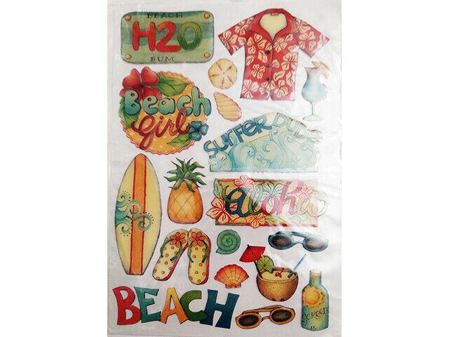 Beach, Aloha, and More Epoxy Stickers