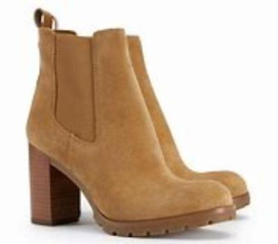 a7b1ef4e2 Tory Burch Stafford Suede Booties Boots Chunky Heel Boots 10.5