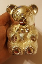 Vintage Silver Plated HMK, Lic., Bear Bank • pre-owned • missing bottom ... - $21.03
