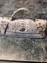 metro7 snake skin purse with shoulder chain - $23.38