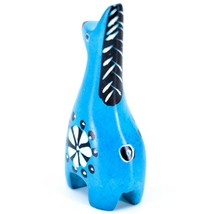 Tabaka Chigware Hand Carved Kisii Soapstone Miniature Blue Giraffe Figurine image 2
