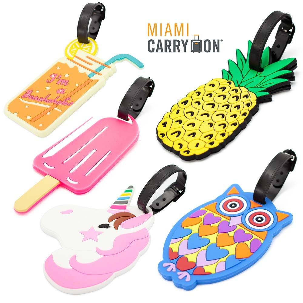 Miami CarryOn Novelty Collection Luggage ID Tags (2-Piece) (Popsicle)