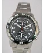 Seiko men watch quartz 7T94 chronograph grey dial SNN193 - $165.33