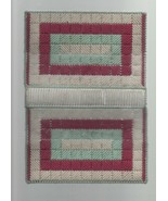 """Pink, Blue & White Knited Book Cover - by Loni Self - 7"""" x 4 1/2"""" x 1"""". - $3.91"""