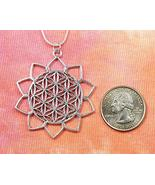 """Flower of Life in 10 Petal Lotus Necklace (28"""") - $42.56"""
