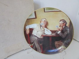 KNOWLES COLLECTOR PLATE BEST FRIENDS 4TH ROCKWELL'S GOLDEN MOMENTS BOXED... - $5.89