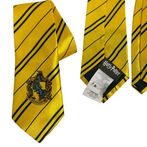 Primary image for Harry Potter Hufflepuff House Tie Wizards Hogwarts World Color: Yellow