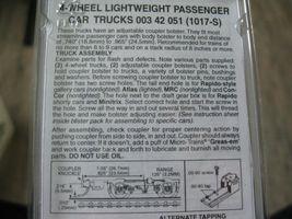 Micro-Trains Stock #00342051 Silver 4-Wheel Lightweight Passenger Car Trucks (N) image 3