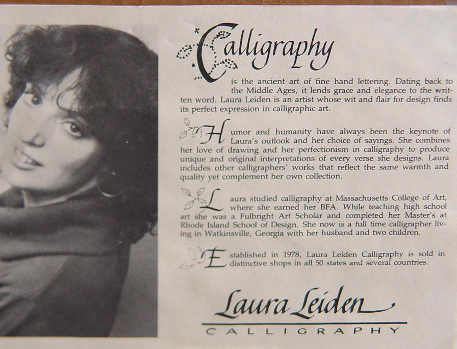 Laura Leiden Framed Calligraphy Print,
