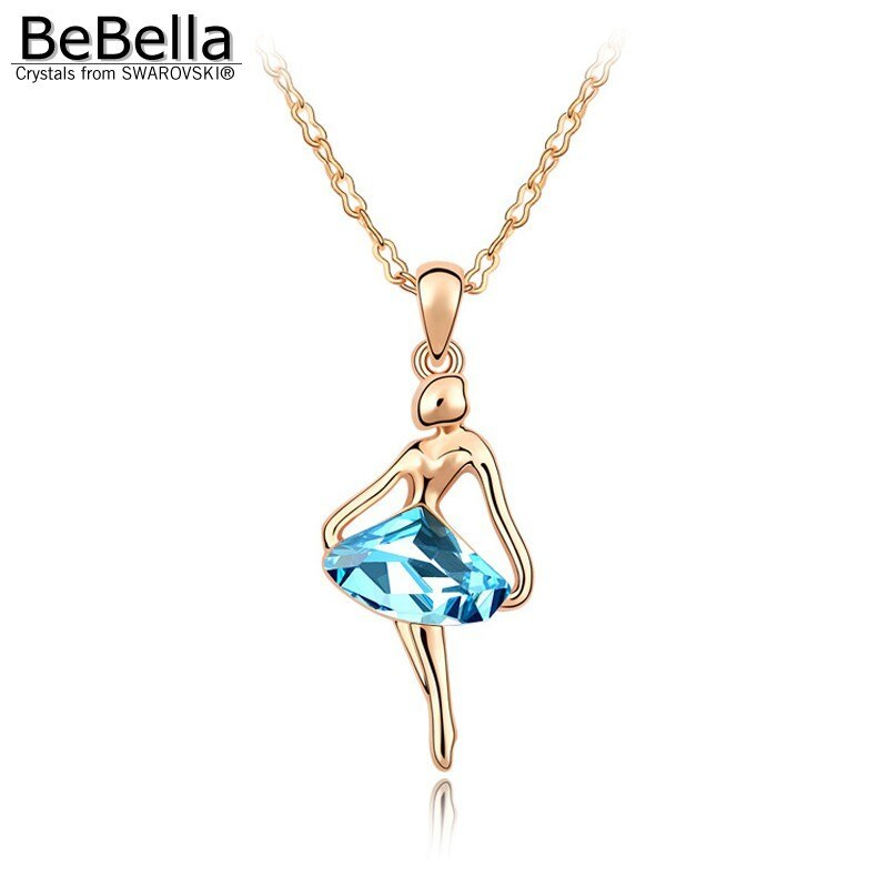 BeBella crystal dancing girl pendant necklace Made with Crystals from Swarovski  image 2