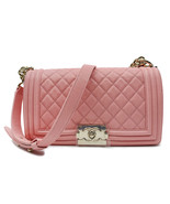 Chanel Pink Quilted Caviar Medium Boy Flap Bag A67086 B00317 N0897 - $4,229.10