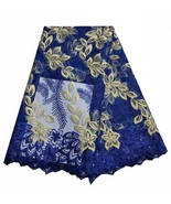 High Quality Net French Tulle Lace African Embroidered Fabric Swiss Roya... - $82.59