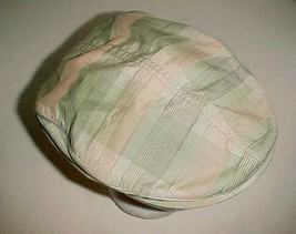 Nike Golf Light Green Pink Plaid Boys Girls Unisex Newsboy Paperboy Hat ... - $22.76