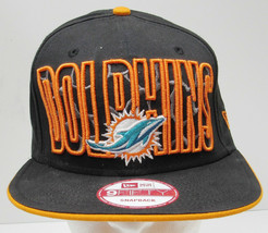 NWT MIAMI DOLPHINS 9FIFTY NFL SNAPBACK HAT NEW ERA CAP DISCONTINUED STYL... - $22.99