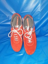 EUC Prada Calzature Donna Orange And Rec Suede Sneakers  Women's Mandari... - $84.15
