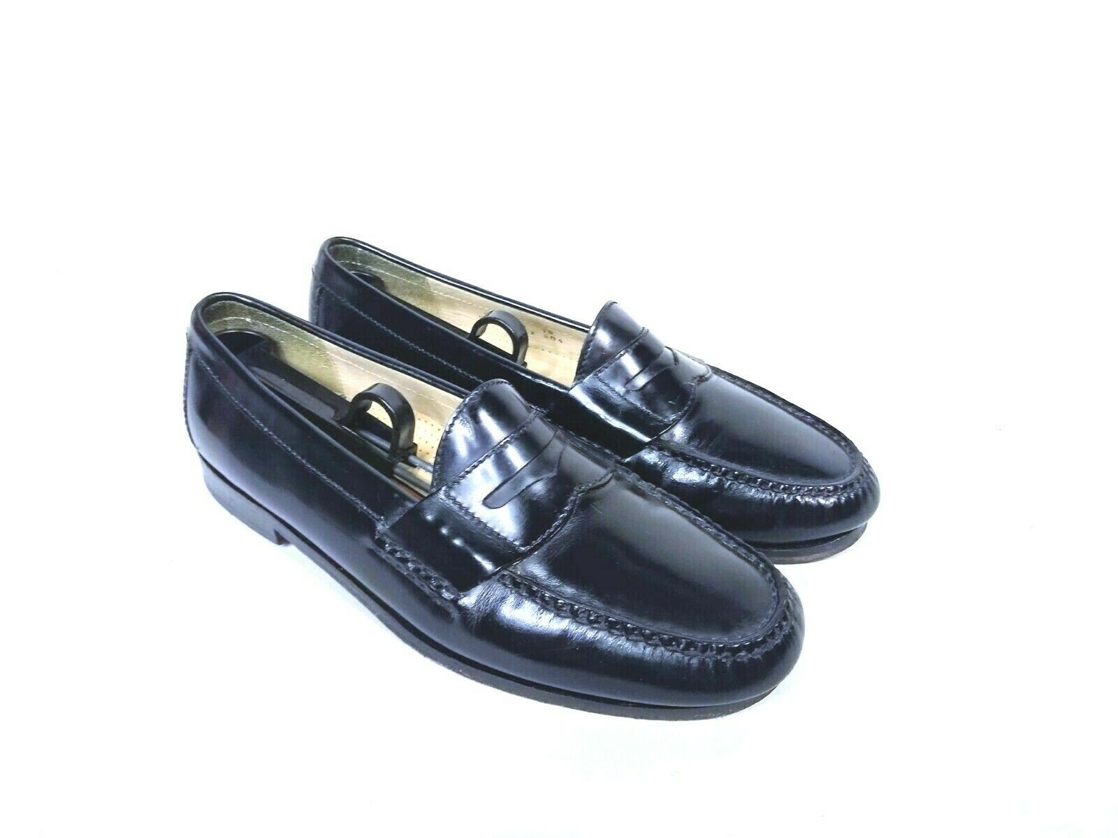 Cole Haan Mens Black Moc Toe Pinch Penny Leather Loafer Slip-on Shoes Size 9.5 image 3