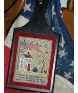 Grande Olde Flag patriotic cross stitch chart Chessie & Me   - $9.00