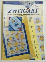 Zweigart Booklet Aida Cross Stitch #144 Storks Mice Boys Girls Sea Life - $9.45