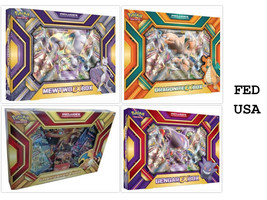POKEMON TCG (4) Collection Boxes: Charizard EX, Gengar EX, Mewtwo EX, Dr... - $79.99