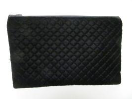"""Quilted Envelope Clutch Purse Handbag Pocketbook Zipper Black 14""""Lx9""""T V... - $59.95"""