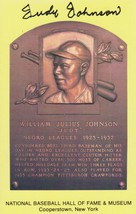 Judy Johnson (d. 1989) Signed Autographed Hall of Fame Plaque Postcard - $49.99