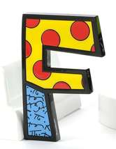 """6"""" Romero Britto Alphabet Letter Figurine Various Freestanding or Wall Mounted image 5"""