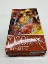 CARDINAL 1000pc JIGSAW PUZZLE 14x22 Native American Woman and Wolf New!! - $10.77
