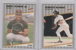 1989 Fleer Glossy RC Sandy Alomar Jr Roberto Alomar Padres - $3.15