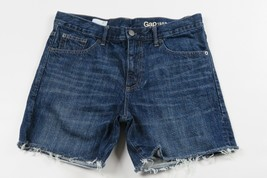 Women GAP 1969 Sexy Boyfriend Cut-off frayed denim jean shorts Size 27 R Waist - $9.89