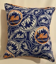Mets Pillow NY Mets New York 2020 MLB Pillow Handmade in USA Met Basebal... - $9.97