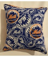 Mets Pillow NY Mets New York 2020 MLB Pillow Handmade in USA Met Baseball Pillow - $9.97