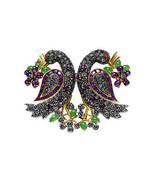 Victorian 2.36ct Rose Cut Diamond Gemstones Women's Brooch Christmas Wed... - $596.60