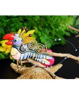 Parrot Bird Porcelain Brooch Pin Jewelry 10 Cyn... - $74.95