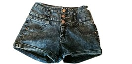 REFUGE Blue Jean Shorts Cuffed Excellent USED Juniors Size 0 - $4.00