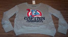 WOMEN'S TEEN CAPTAIN AMERICA Marvel Comics Crew Sweatshirt LARGE NEW w/ TAG - $34.65
