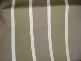 TAUPE Grey White Ribbed Woven STRIPE Upholstery Fabric, 21-29-23-1210 - $9.49
