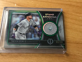 TREVOR STORY 2020 TOPPS TRIBUTE stamp of approval relic GREEN 59/ 99 #SO... - $9.89