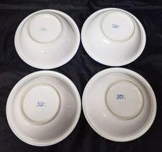 "Design Concepts Cereal Bowls Set of 4, 7"" Soup Bowls, White, Blue Trim Tulips image 10"