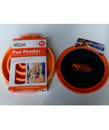 Outward Hound Fun Feeder Slow Feed  Bloat Stop Dog Bowl And Nerf Dog Fri... - $29.69