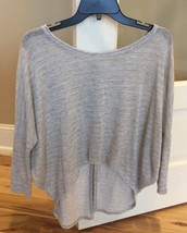 Tella Couture Heather Gray Top Button Back Wimens S Boho Loose Shirt - $12.99