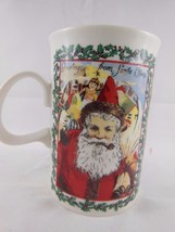 Dunoon fine Stoneware  Mug Cup  Christmas Wishes Santa Made in England - $10.88