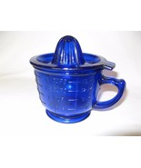 Measuring Cup and  Juicer Cobalt Blue Reproduction Depression Glass, 2 P... - $32.18